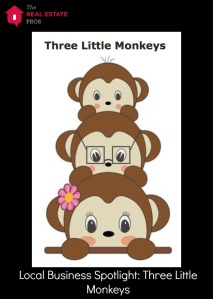 three little monkeys and logo